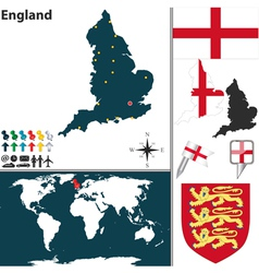 England map world vector image vector image
