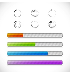 preloaders and progress bars vector image