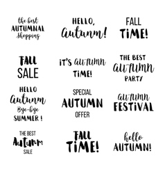 Seasonal autumn lettering Autumn typographic and vector image vector image