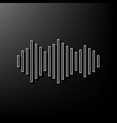 sound waves icon gray 3d printed icon on vector image vector image
