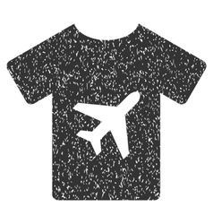 T-shirt icon rubber stamp vector