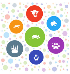 7 cat icons vector