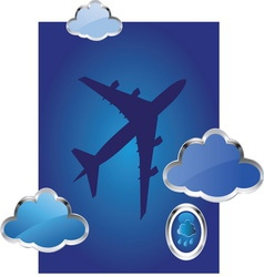 airplane8 vector image