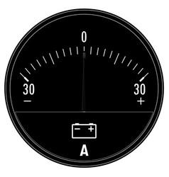 Ampermeter car ammeter black drawing vector