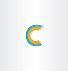 Blue orange letter c logotype vector