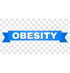 Blue tape with obesity caption vector