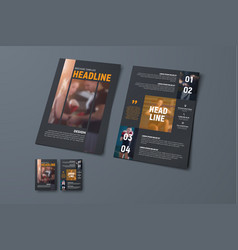 brochure template with vertical stripes and vector image