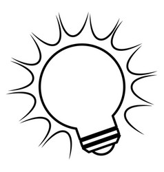 bulb light with rays vector image