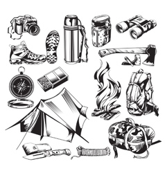 Camping Elements Set vector