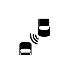 Car safety system flat icon vector