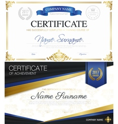 Classic elegant certificates collection vector