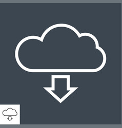 cloud storage thin line icon vector image
