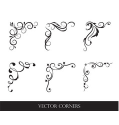 collection original design elements corners vector image