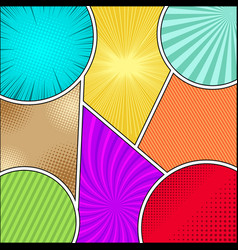 comic book bright composition vector image