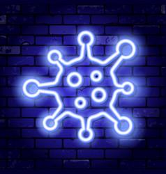 coronavirus neon signboard vector image