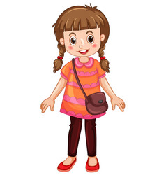 Cute girl cartoon character vector
