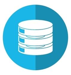Data center server network shadow blue circle vector