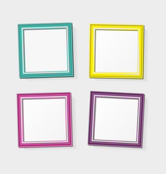 Decoration template frames vector