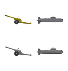 Design of weapon and gun sign set of vector