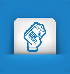 document barcode icon vector image