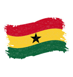 flag of ghana grunge abstract brush stroke vector image