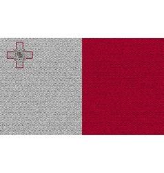 Flags Malta on denim texture vector