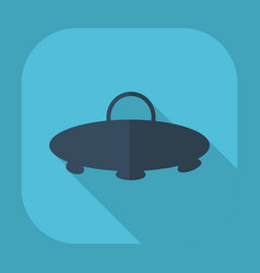 Flat modern design with shadow a ufo vector