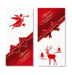 gift christmas card merry christmas holiday vector image