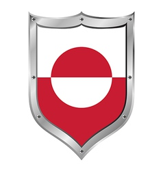 Greenland flag button vector image