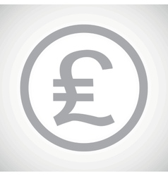Grey pound sterling sign icon vector