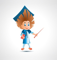 Guy university graduate with pointer vector