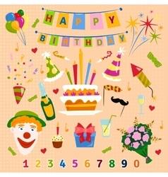 Happy Birthday symbols vector image
