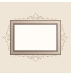 Horizontal vintage frame vector image