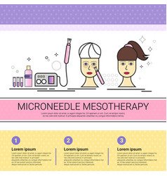 Microneedle mesotherapy cosmetology infographics vector