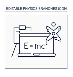 Modern physics line icon vector