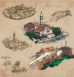 Montenegro Hand drawn pack vector