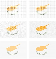 Mosaic Cyprus flag set vector