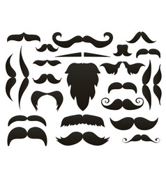 moustache mustache icon isolated setfunny fake vector image