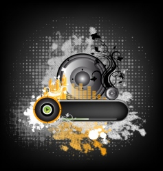 Music grunge background vector