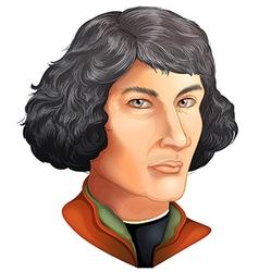 Nicolaus Copernicus vector image