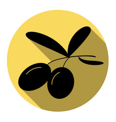 Olives sign flat black icon vector