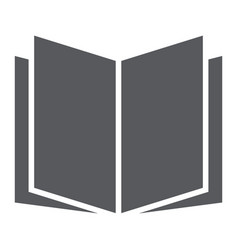 open book glyph icon school and education vector image