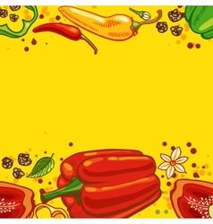 pepper background vector image