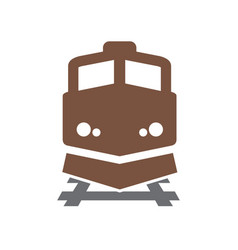 Railroad related icon on background for graphic vector