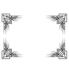 Retro decorative frame in vintage style art deco vector