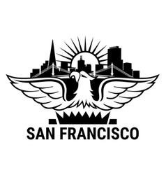 san francisco eagle vector image