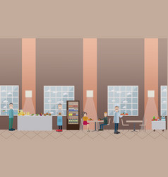 School concept in flat style vector