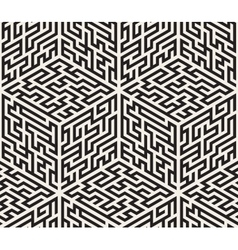 Seamless Black And White Isometric Maze vector image
