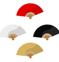 Set of foldnig fans vector image