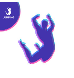 silhouette jumping man design template for sport vector image